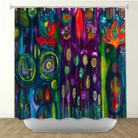 DiaNoche Designs Shower Curtains by Arist Michele Fauss Unique, Cool, Fun, Funky, Stylish, Decorative Home Decor and Bathroom Ideas - The Believers Garden