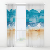Sand and Surf Window Curtains by noondaydesign
