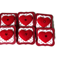 Red Heart Gift Tags Valentine Tags Valentine Gift Tags