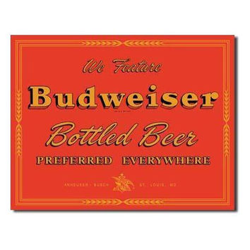 Tin Sign : Budweiser - Preferred