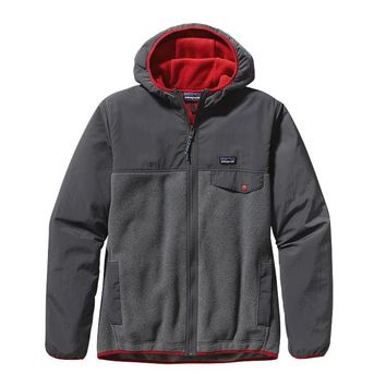 Patagonia Men's Shelled Synchilla® Snap-T® Fleece Hoody | Forge Grey
