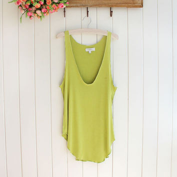 Green Camisole Tank Top