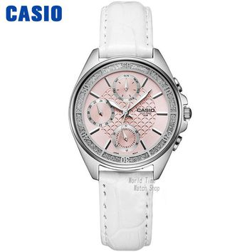 Casio watch fashion business three waterproof steel ladies watch LTP-2086D-1A LTP-2086L-7A  LTP-2085D-7A