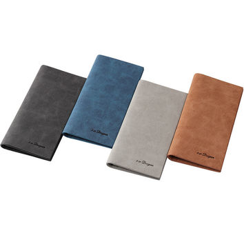 designer male wallets 4czv  Mens Wallet Fashion Retro Luxury Brand Leather Purse Men Wallets