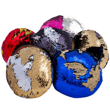 Round Sequin Mermaid Pillow