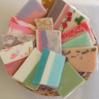 Soap Samples - Variety Grab Bag - Glycerin Soap - Shower Favors Travel or Guest Soaps - One Pound