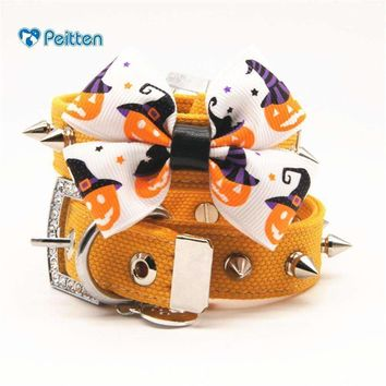 Pet Halloween  Series Collars  Puppy Dogs Cats  Leash  Harness Cat Bowknot Pet  Festival Supplies Size S/M/L/XL1pcs