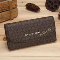 MK 2017 Pure elegant leather printing wallet purse bag [54391177228]