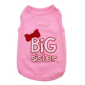 Parisian Pet Big Sister Dog Shirt - Pink