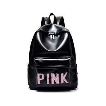 One-nice™ Victoria's Secret PINK : Casual Sport Laptop Bag Shoulder School Bag Backpack