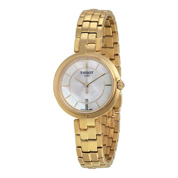 Tissot Ladies Flamingo White MOP Quartz Swiss Made Watch T094.210.33.111.00