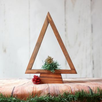 Wooden Christmas Tree, Tabletop Tree