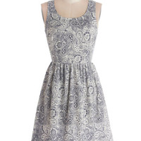 ModCloth Mid-length Tank top (2 thick straps) A-line Blissful Breakfast Dress