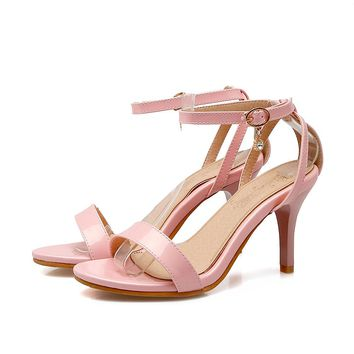 2017 Limited New Gladiator Sandals Women Sexy fashion Big Size 32-45 Lady Super High Heel wedding party Women Pumps shoes 521