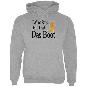 ESBGQ9 Oktoberfest I Won't Stop Until I Get Das Boot German Beer Mens Hoodie