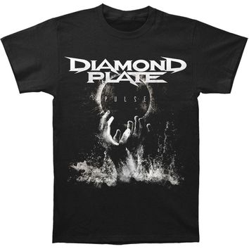 Diamond Plate Men's  Pulse T-shirt Black Rockabilia