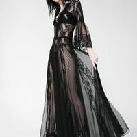 Dark Modern Love Maxi Dress