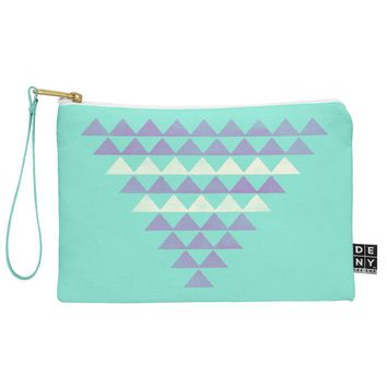 Allyson Johnson Purple Triangles Pouch