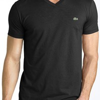 Men's Big & Tall Lacoste V-Neck Cotton T-Shirt