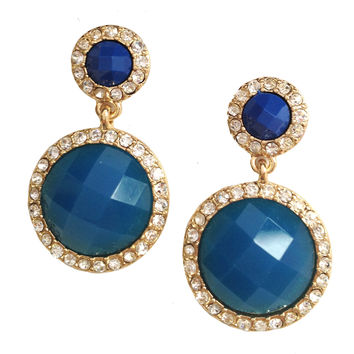 Dual Tone Royal Earrings