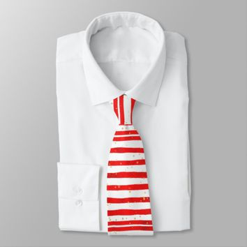 Christmas Stripes Necktie