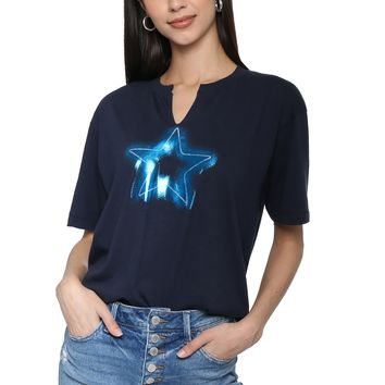 JET x Mixology Neon Star Baby Football Tee