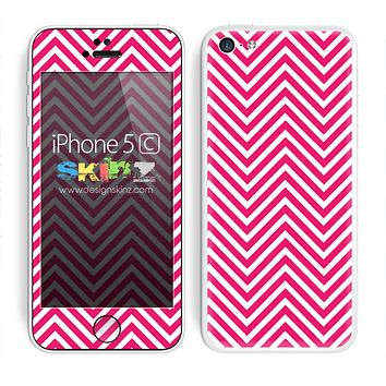 Simple Pink and White Chevron Pattern Skin For The iPhone 5c