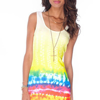 Dye Trying Tank Dress in Yellow :: tobi