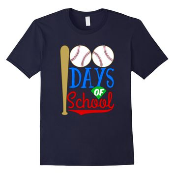 Happy 100th 100 Days of School T-shirt Baseball Bat Sports