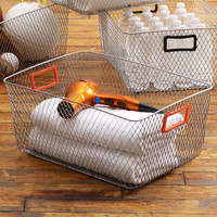 Diamond Punch Basket in Orange - Large