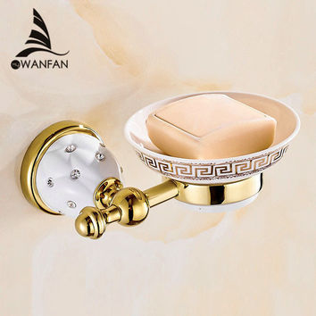 New Golden finish brass Soap basket soap dish soap holder bathroom products bathroom furniture toilet vanity 5205