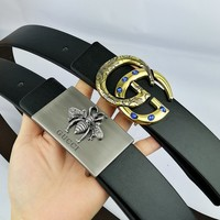 GUCCI 2019 new high-end fashion smooth buckle belt
