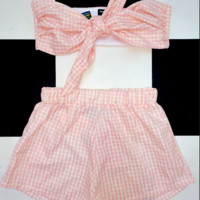 SWEET LORD O'MIGHTY! THE BRUNCH SET IN GINGHAM PINK