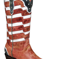 Women's Corral Boots Red, White & Blue USA Flag Cowgirl Boots