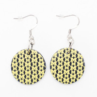 Michigan Wolverines Dayna U Women's Wood Logo Pendant Earrings - http://www.shareasale.com/m-pr.cfm?merchantID=7124&userID=1042934&productID=549282216 / Michigan Wolverines