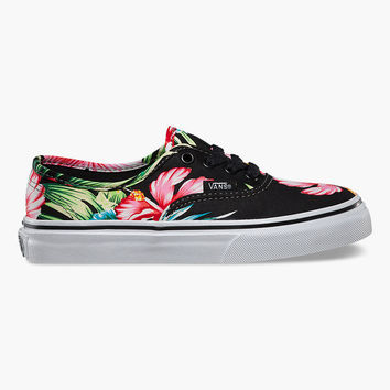 VANS Hawaiian Floral Authentic Girls Shoes | Sneakers