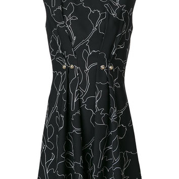 Carven Button Detail Printed Dress - Farfetch