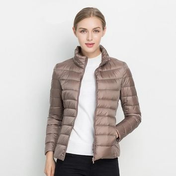 STYLEDOME Women Winter Coat Duck Down Jacket Slim Winter Coat