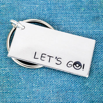 Let's Go! - Pokeball - Video Games - Aluminum Key Chain