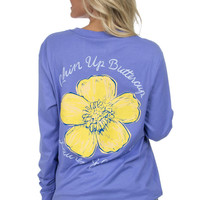 Lauren James Chin Up Buttercup Tee in Periwinkle