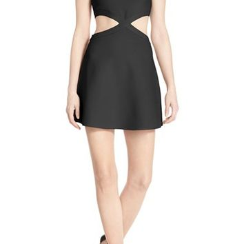 BCBGMAXAZRIA 'Jacquelln' One Shoulder Knit Fit & Flare Dress | Nordstrom
