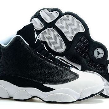 PEAPONVX Jacklish Air Jordan 13 (xiii) Retro Oreo Custom Black-w bf8316b8b9