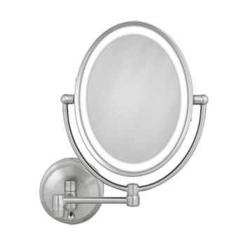Oval LED Lighted Wall Mirror