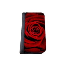 Floral iPhone 5C wallet case MADE IN USA - different designs flip case (Red Rose)