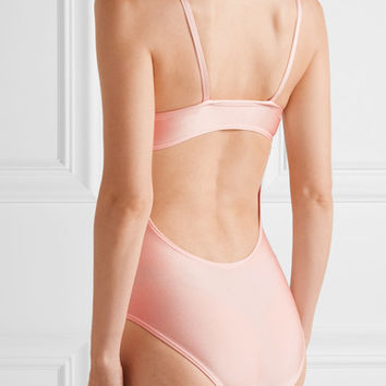 Ballet Beautiful - Open-back stretch-jersey leotard