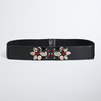 Gemstone Cluster Stretch Belt
