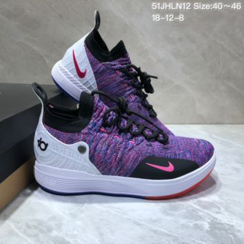HCXX N699 Nike Zoom KD11 Mid XI Men Actual Baketball Shoes Purple