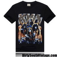 KISS Shirt Heavy Metal Rock Band GODS!!