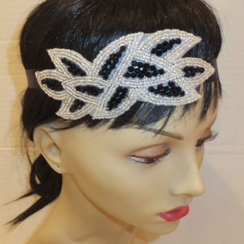 Great Gatsby Headband- 20s Headband, Flapper Headband, Leaf Headband, Art Deco Headband