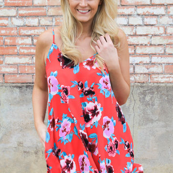 Poppy Print Swing Dress
